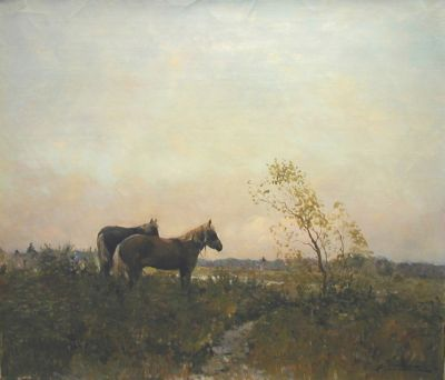 Alexander Kremer - Horses in the Field