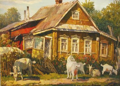 Ivan Vityuk - Old House, Goats