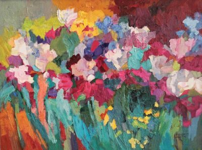 Larisa Aukon: Selected Sold Works - Bed of Irises