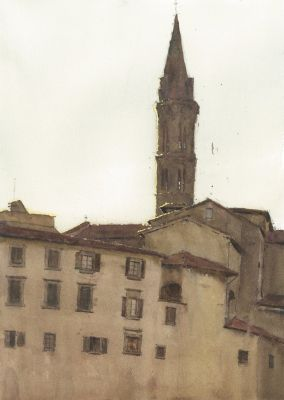 Click Here for Selected Sold Works - Badia Fiorentina Bell Tower
