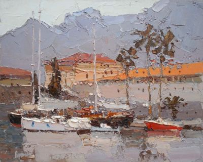 Click here to see selected sold works - Dull Day, Red Boat