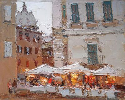 Click here to see selected sold works - Rome Cafe