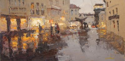 Click here to see selected sold works - Rain on the Streets