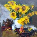 Vladimir Kovalov - Still Life with Sunflowers