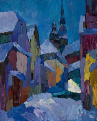 Larisa Aukon: Selected Sold Works - Midnight Sonnet