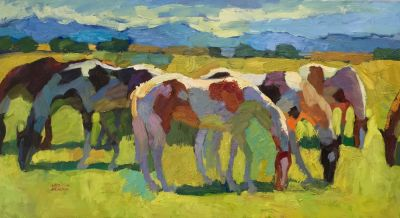 Larisa Aukon: Selected Sold Works - Grazing Pintos