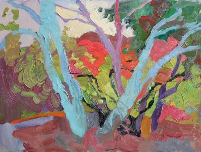 Larisa Aukon: Selected Sold Works - Blue Tree