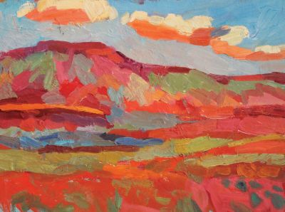 Larisa Aukon: Selected Sold Works - Clouds Running