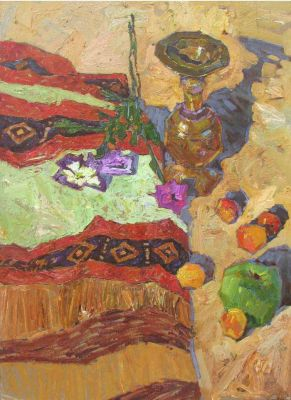 Denis Sarazhin - Still Life with Rug