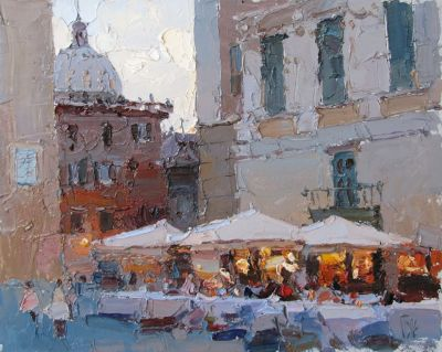 Click here to see selected sold works - Evening in Rome