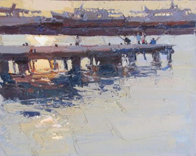 Click here to see selected sold works - Morning in the Port