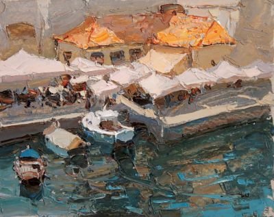 Click here to see selected sold works - Cafe at Sea