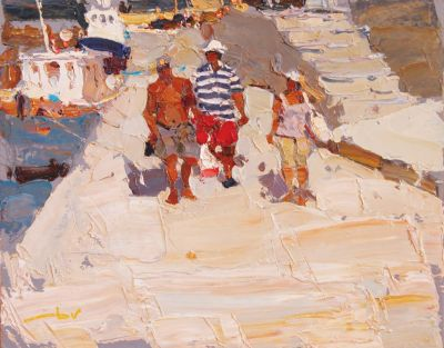 Click here to see selected sold works - Holiday Makers